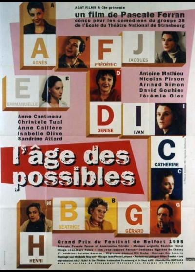 affiche du film AGE DES POSSIBLES (L')