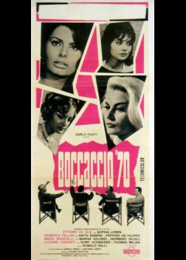 BOCCACCIO 70 movie poster