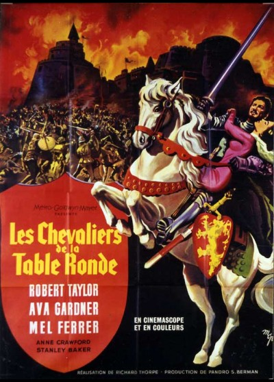 affiche du film CHEVALIERS DE LA TABLE RONDE (LES)