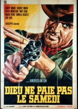 affiche du film DIEU NE PAIE PAS LE SAMEDI