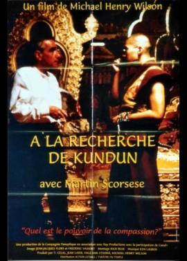 affiche du film A LA RECHERCHE DE KUNDUN AVEC MARTIN SCORSESE