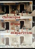 CHRONIQUE D'UNE DISPARITION