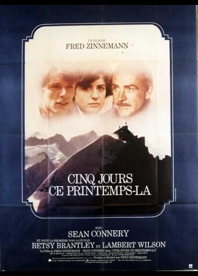 affiche du film CINQ JOURS CE PRINTEMPS LA