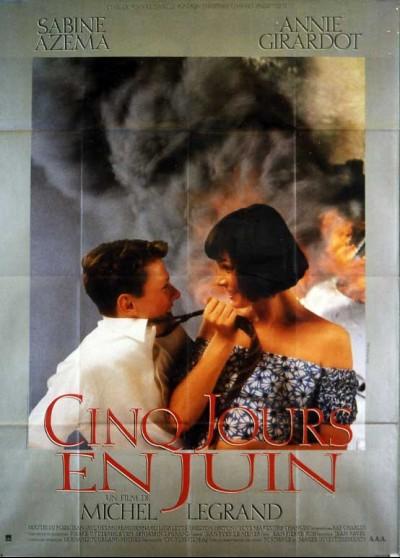 affiche du film CINQ JOURS EN JUIN