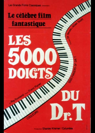 5000 FINGERS OF DOCTOR T (THE) / THE FIVE THOUSAND OF DOCTOR T movie poster