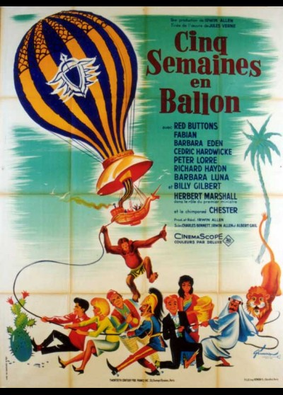 FIVE WEEKS IN A BALLOON movie poster
