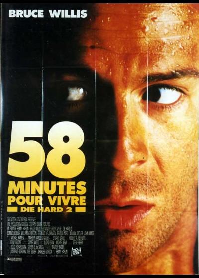 affiche du film CINQUANTE HUIT MINUTES POUR VIVRE