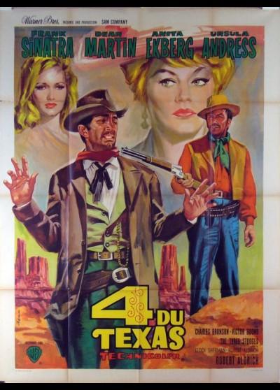 affiche du film QUATRE DU TEXAS