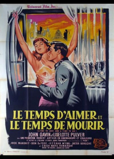 affiche du film TEMPS D'AIMER ET LE TEMPS DE MOURIR (LE)