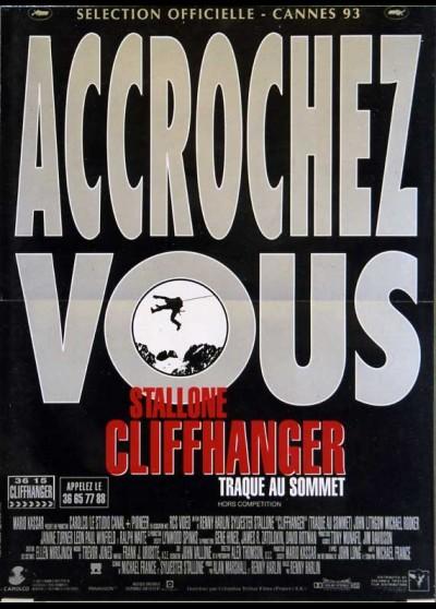 CLIFFHANGER movie poster