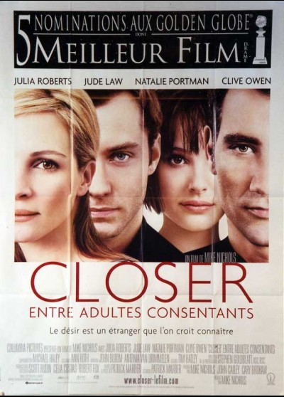 affiche du film CLOSER ENTRE ADULTES CONSENTANTS