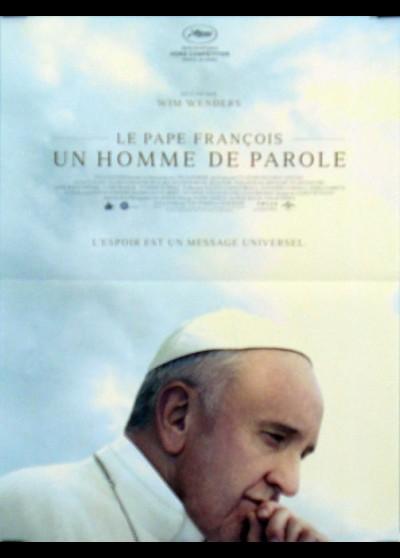 affiche du film PAPE FRANCOIS UN HOMME DE PAROLE (LE)
