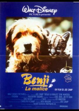 affiche du film BENJI LA MALICE