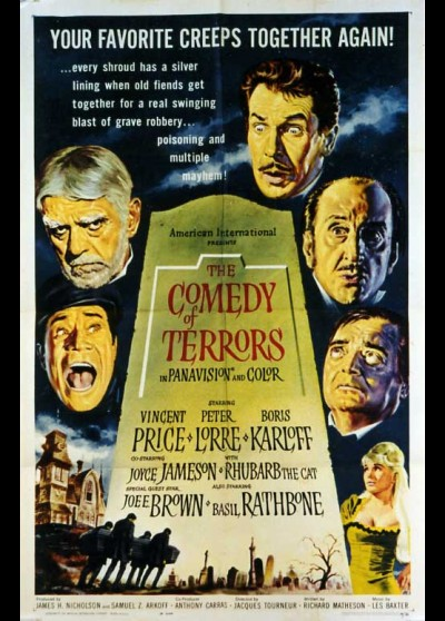 affiche du film COMEDY OF TERRORS (THE)