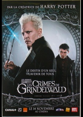 affiche du film ANIMAUX FANTASTIQUES LES CRIMES DE GRINENWALD (LES)