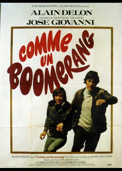 COMME UN BOOMERANG movie poster