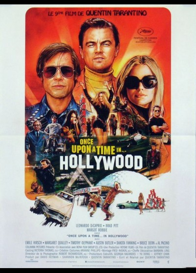 affiche du film ONCE UPON A TIME IN HOLLYWOOD