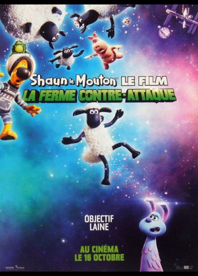 affiche du film SHAUN LE MOUTON LA FERME CONTRE ATTAQUE