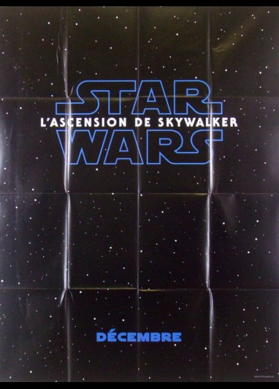 STAR WARS 9 THE RISE OF SKYWALKER movie poster