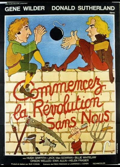affiche du film COMMENCEZ LA REVOLUTION SANS NOUS