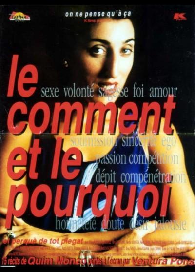 affiche du film COMMENT ET LE POURQUOI (LE)