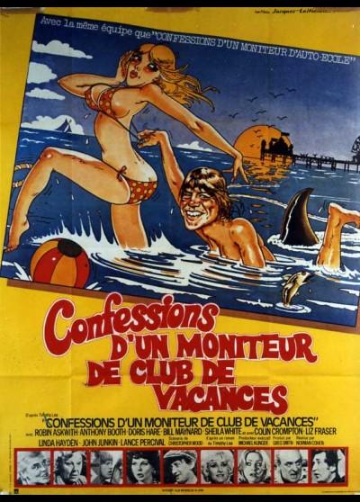 affiche du film CONFESSIONS D'UN MONITEUR DE CLUB DE VACANCES
