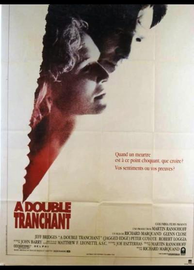 affiche du film A DOUBLE TRANCHANT