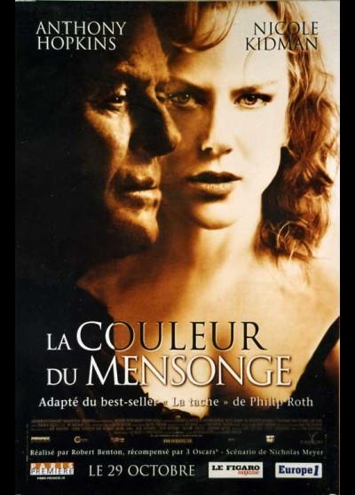 affiche du film COULEUR DU MENSONGE (LA)