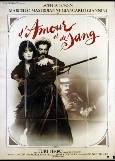 affiche du film D'AMOUR ET DE SANG