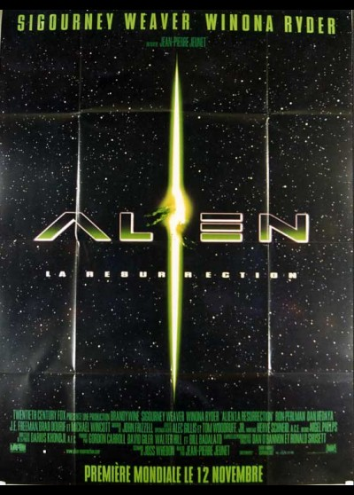 affiche du film ALIEN LA RESURRECTION