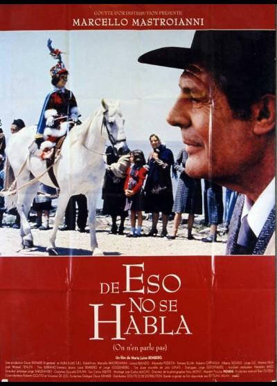 affiche du film DE ESO NO SE HABLA