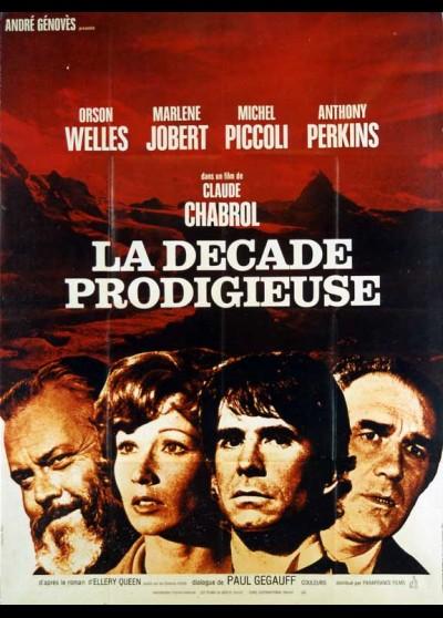 affiche du film DECADE PRODIGIEUSE (LA)
