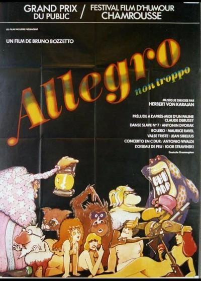 affiche du film ALLEGRO NON TROPPO