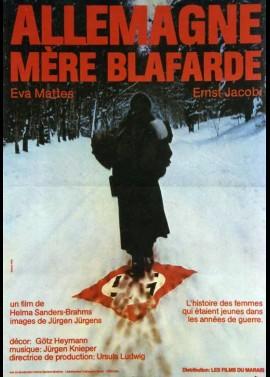 affiche du film ALLEMAGNE MERE BLAFARDE