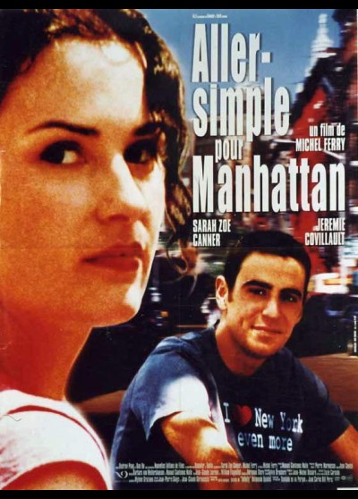 affiche du film ALLER SIMPLE POUR MANHATTAN
