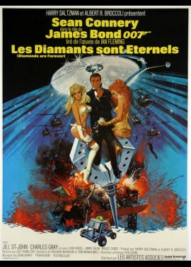 DIAMONDS ARE FOREVER movie poster
