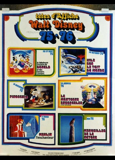 DISNEY TETES D'AFFICHE 1975 / 1976 movie poster