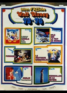 affiche du film DISNEY TETES D'AFFICHE 1975 / 1976