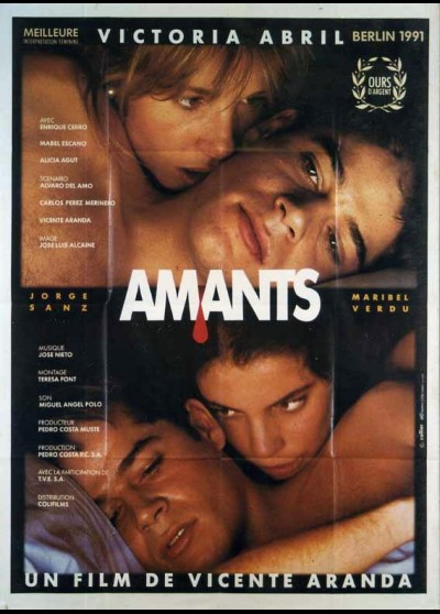 AMANTES movie poster