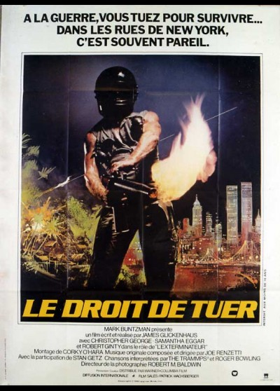EXTERMINATOR (THE) movie poster