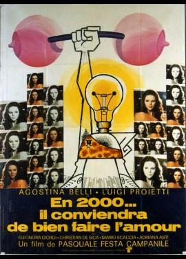 affiche du film EN 2000 IL CONVIENDRA DE BIEN FAIRE L'AMOUR