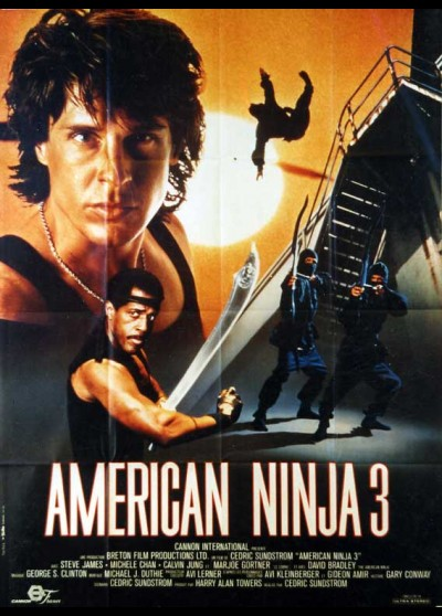 AMERICAN NINJA 3 BLOOD HUNT movie poster