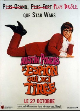 affiche du film AUSTIN POWERS L'ESPION QUI M' A TIREE