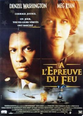 affiche du film A L'EPREUVE DU FEU