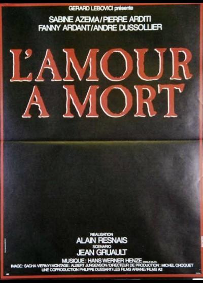 affiche du film AMOUR A MORT (L')