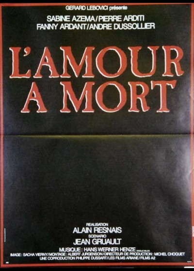 AMOUR A MORT (L') movie poster