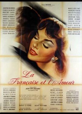 affiche du film FRANCAISE ET L'AMOUR (LA)