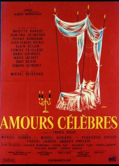 affiche du film AMOURS CELEBRES (LES)