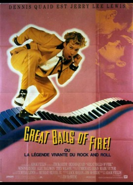 GREAT BALLS OF FIRE movie poster
