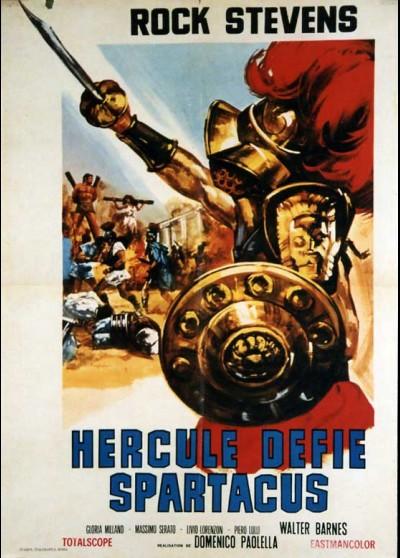 affiche du film HERCULE DEFIE SPARTACUS
